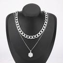 collier en deux pices avec pendentif lettre A en alliage simple NHJE275637