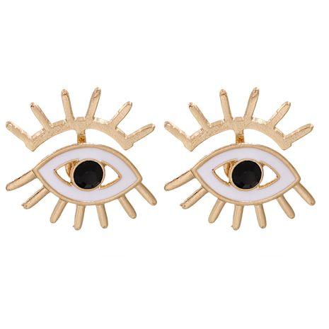 boucles d'oreilles oeil du diable exagérées NHJJ275640's discount tags