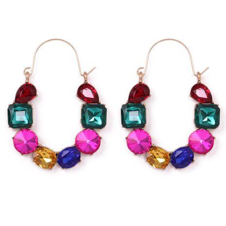 Boucles d'oreilles diamant créatives exagérées à la mode NHJJ275641's discount tags