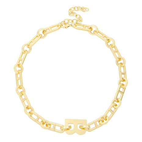 exaggerated letter gold necklace NHJQ275646's discount tags