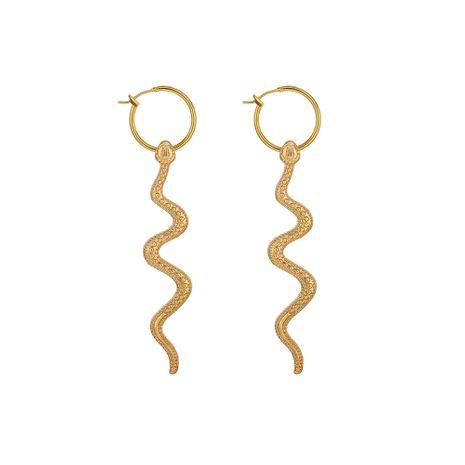 pendientes largos de serpiente de moda NHOA275689's discount tags