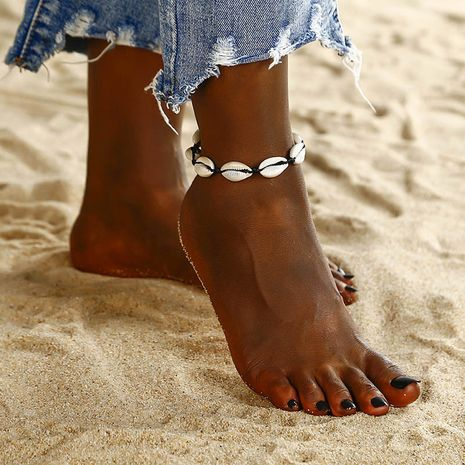 fashion hand-woven adjustable  Bohemian ethnic style natural shell beach anklet  NHPF275724's discount tags