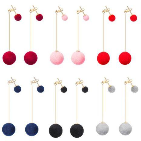 Korean fashion hair ball earrings  NHPF275725's discount tags