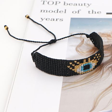 fashion  beads ethnic handmade  black punk Turkish evil eye beaded bracelet NHGW275728's discount tags
