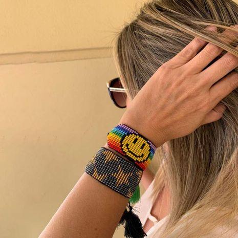 Pulsera de pareja sonriente de arco iris simple de estilo bohemio NHGW275758's discount tags
