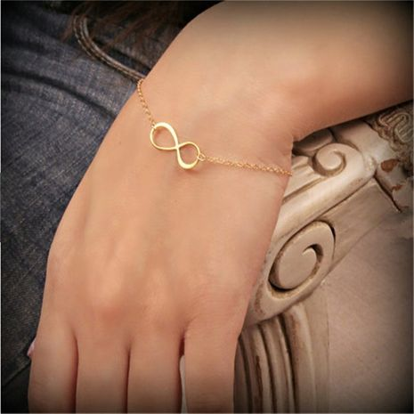 simple number 8 infinite infinity adjustable bracelet for women NHQC275803's discount tags