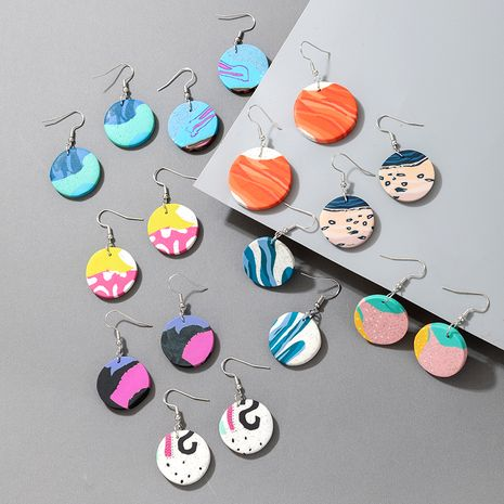 Korean long colorful acrylic earrings NHGY277792's discount tags
