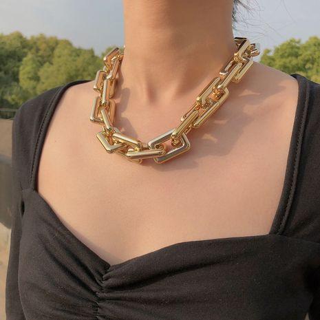 Collar de clavícula de cadena punk retro corto CCB de metal exagerado de moda NHQC275800's discount tags