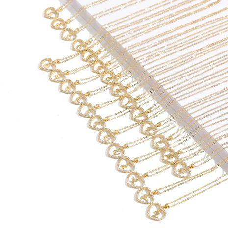 Collar de diamantes Korean 26 Lucky Heart con letras inglesas para mujer NHQC275799's discount tags