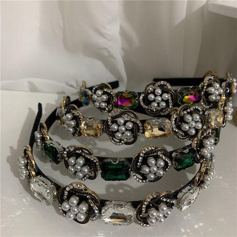 Bandeau de perles de cristal baroque de luxe rétro français NHYQ275219's discount tags