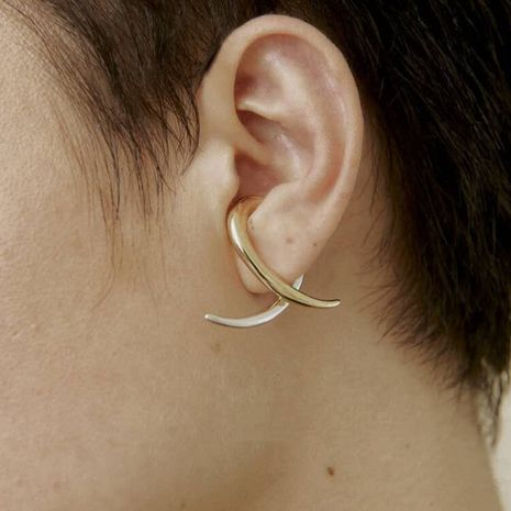 fashion  gold  silver double color  ear bone clip  NHYQ275225's discount tags