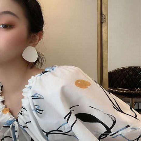 Korea  new glossy dripping earrings  NHYQ275232's discount tags
