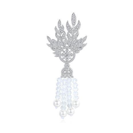 broche longue pompon zircon fashion NHTM275281's discount tags