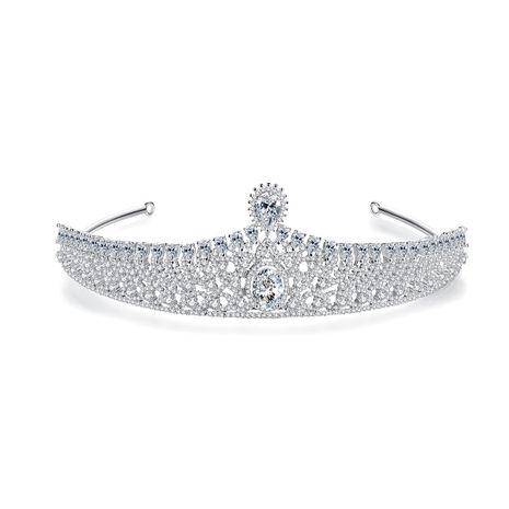 accessoires de mariage de mode couronne blanche en cuivre NHTM275283's discount tags