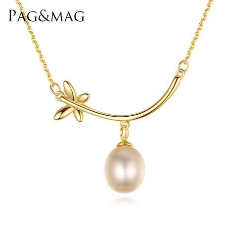 S925 sterling silver pendant butterfly pearl necklace  NHLE275315's discount tags