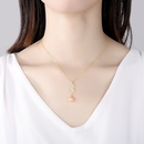 S925 sterling silver pearl necklace  NHLE275320