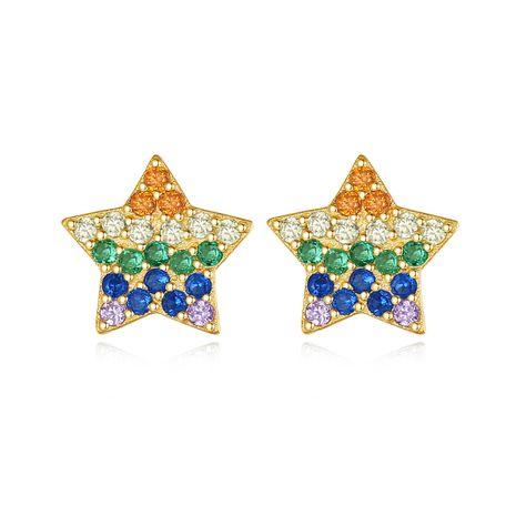 pendientes de color estrella de cinco puntas salvajes vendedores calientes NHLE275323's discount tags