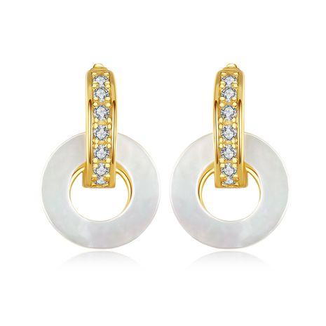 Korean retro round shell earrings  NHLE275325's discount tags