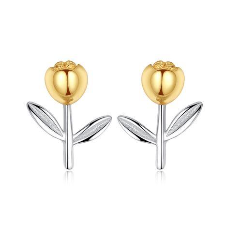 venta caliente S925 pendientes de tulipán de plata esterlina NHLE275326's discount tags