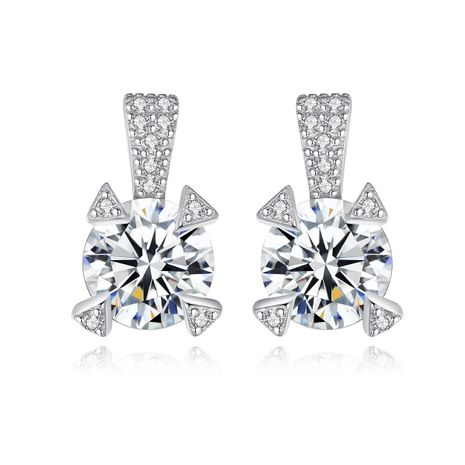 hot-selling S925 sterling silver zircon earrings  NHLE275340's discount tags