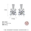 hotselling S925 sterling silver zircon earrings  NHLE275340