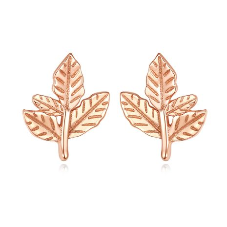 S925 silver korean  forest sweet leaf earrings  NHLE275342's discount tags