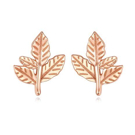 Pendientes de hoja dulce del bosque coreano de plata S925 NHLE275342's discount tags