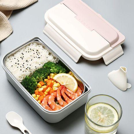 Einschichtige Lunchbox aus Edelstahl mit Löffel NHNU275842's discount tags