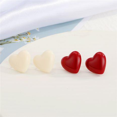 Boucles d'oreilles en résine coeur aiguille en argent 925 NHGO275772's discount tags