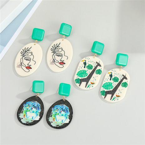 nuevos pendientes de resina animal NHGO275775's discount tags