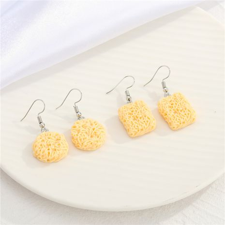 creative funny simulation instant noodle earrings  NHGO275780's discount tags