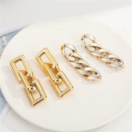 acrylic CCB metal chain earrings  NHGO275785's discount tags