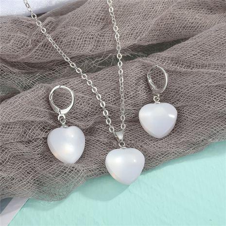 imitation cat eye fashion earrings necklace set NHGO275787's discount tags