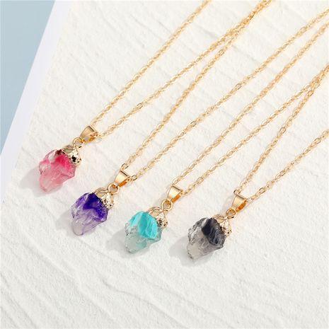 Nachahmung Halskette aus Natursteinharz NHGO275788's discount tags