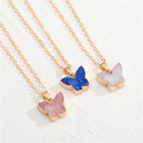 Imitation Naturstein Schmetterling Anhänger Halskette NHGO275791's discount tags