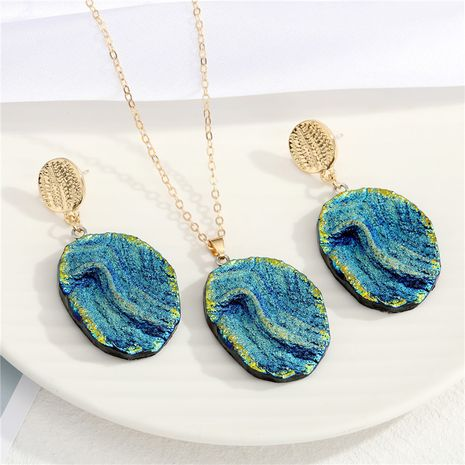new   Bohemian  exaggerated irregular resin earrings or necklace  NHGO275794's discount tags
