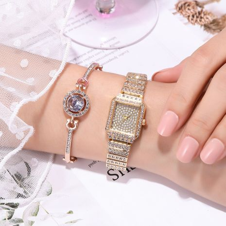 reloj con correa de acero con incrustaciones de diamantes NHSS275850's discount tags
