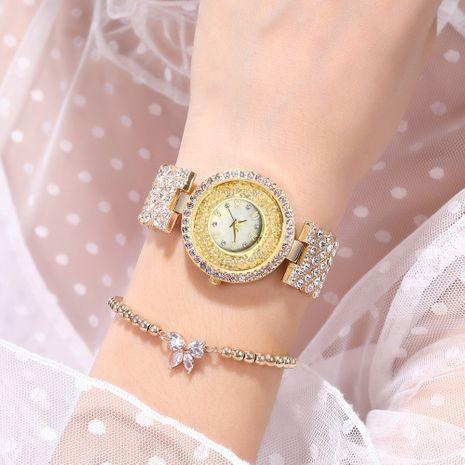 Reloj de cuarzo para mujer con cadena de metal con diamantes NHSS275851's discount tags