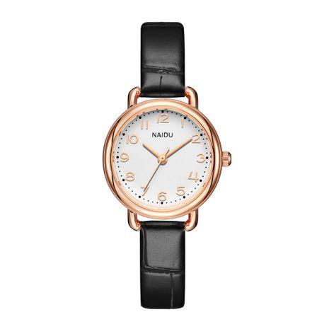 Reloj coreano de cuarzo de oro rosa NHSS275855's discount tags
