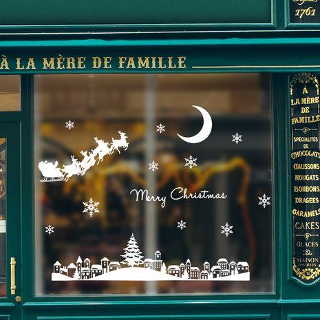 Christmas Santa Moonlight Wall Stickers NHAF275859's discount tags