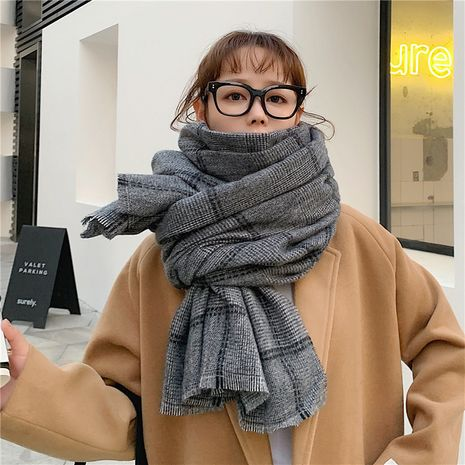 knitted wool thickened double-sided scarf NHCM275876's discount tags