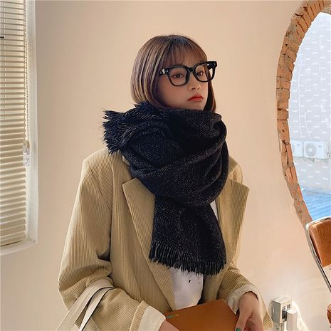 Korean long thickened warm knitted wool scarf NHCM275885's discount tags