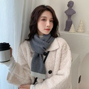 Twocolor knitting small scarf  NHMN275888