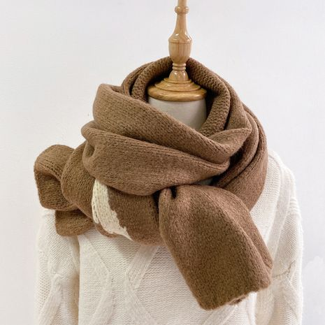 Korean solid color knitted scarf NHCJ275919's discount tags