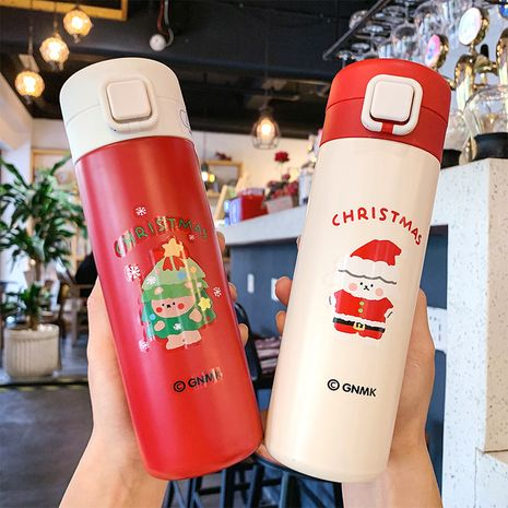 Simple cute Christmas square buckle thermos  NHtn275982's discount tags