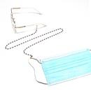 High quality fashion pearl black crystal glasses chain  NHBC276028