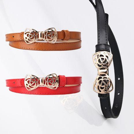 cinturón con hebilla dorada NHJN276046's discount tags