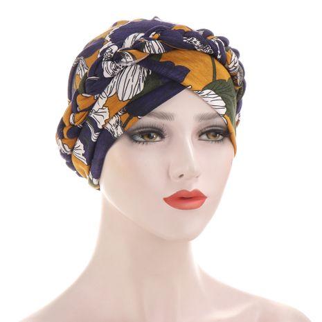 chapeau tressé en tissu de soie de lait poncé tie-dye NHHV276058's discount tags