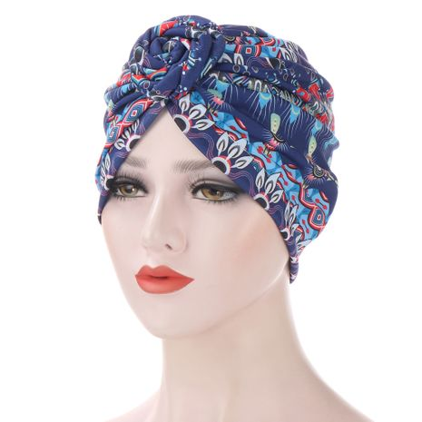 Spiral Turban Multicolor Cap NHHV276059's discount tags