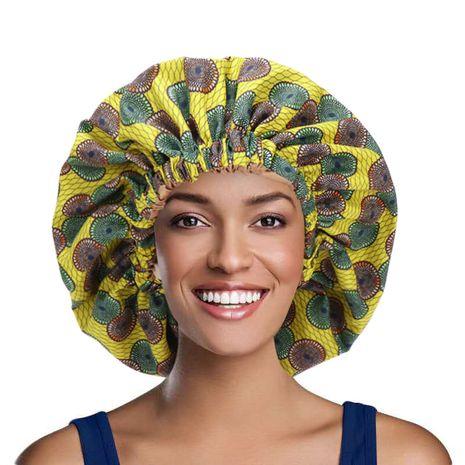 bonnet de nuit élastique imprimé à la mode NHHV276066's discount tags